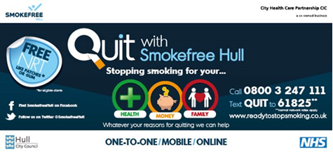 Quit with Smokefree Hull